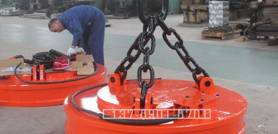 起重电磁铁链条_电磁吸盘吊链价格