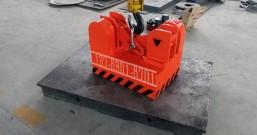 永磁起重器吸吊5吨钢坯碰撞测试
