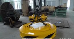 宝钢直径2.1米MW5-210L/G-75高温高频型起重电磁铁发货