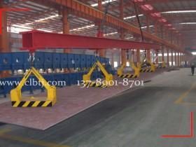 自卸式永磁起重器5台联吊,在日照某钢铁成功使用案例