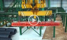 八一钢铁60万吨高速线材使用吸吊高速线材盘圆用起重电磁铁使用案例