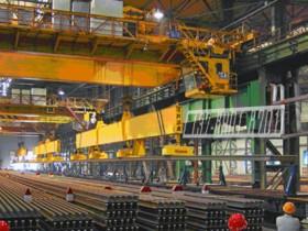 吸吊高温钢轨、轨道钢、重轨、铁轨用起重电磁铁