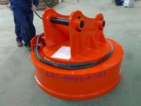 挖机电磁吸盘_挖掘机用起重电磁铁技术参数、案例、电气控制柜