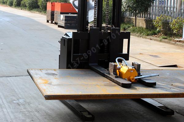 叉车安装起重永磁铁的方法