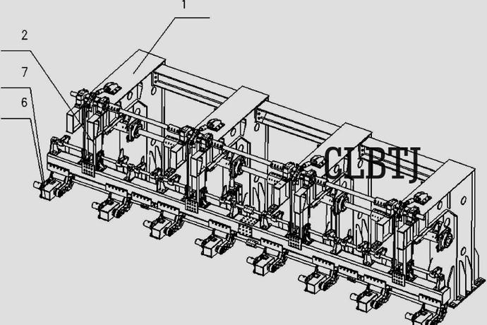CN201610799181-精确定位多组并联高速码垛系统的轴测图1