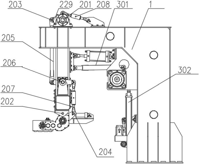 精确定位多组并联高速码垛系统采用多连杆腕部姿态调整机构的结构示意图19