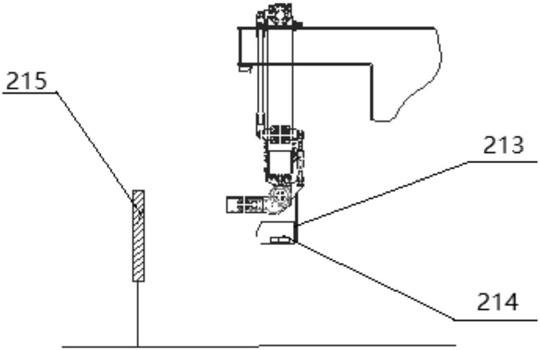 精确定位多组并联高速码垛系统的移动测距定位机构的结构示意图2