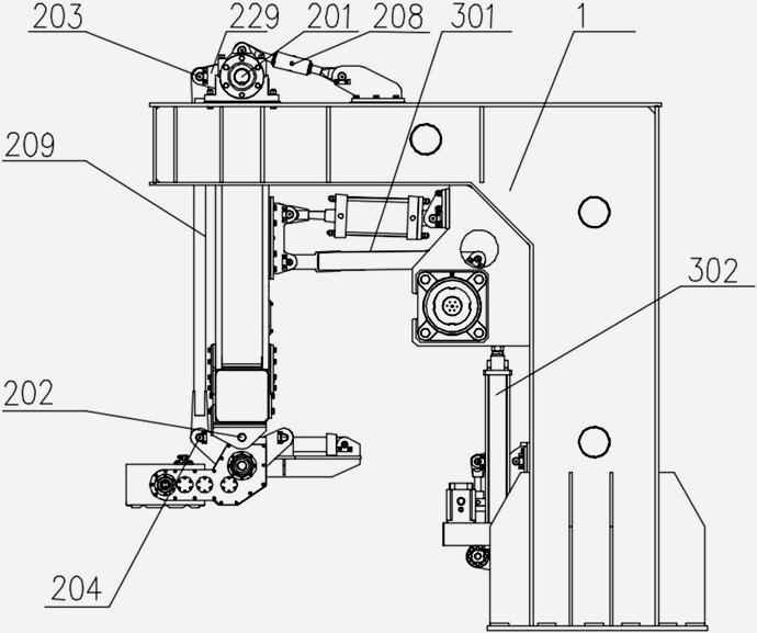 精确定位多组并联高速码垛系统采用单连杆腕部姿态调整机构的结构示意图20
