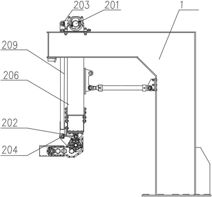 精确定位多组并联高速码垛系统的水平保持机构的结构示意图3