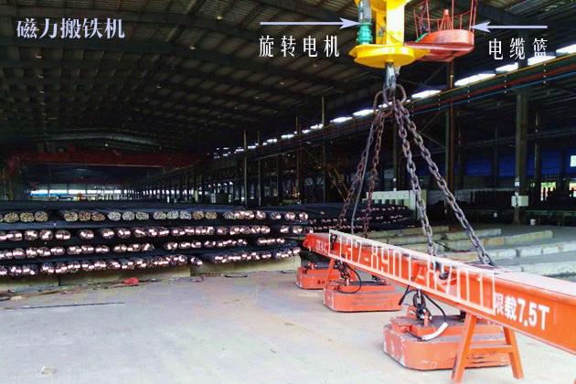 吊运棒材用电磁吸盘配套旋转吊钩照片