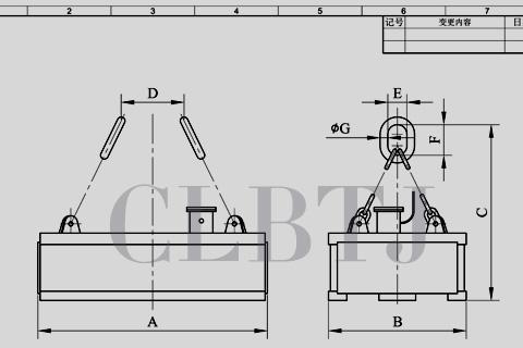 吸吊高温钢轨、轨道钢、重轨、铁轨用起重电磁铁技术参数
