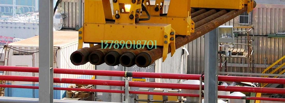 吸吊石油钻探杆(圆钢)用起重电磁铁,在大连成功吊运。