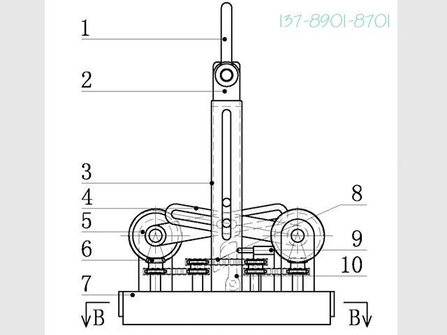 图4为一种磁路水平旋转式起重永磁铁的卸铁状态示意图。