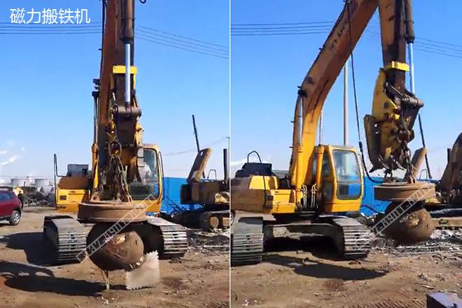 15吨挖掘机配直径0.9米起重电磁铁